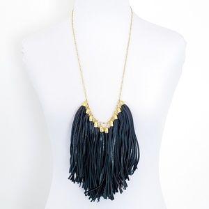 NWOT! BaubleBar Necklace Leather Tassel Fringe